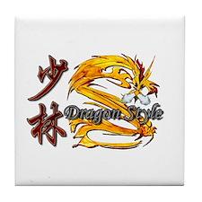 Shaolin Kanji Dragon Style Tile Coaster