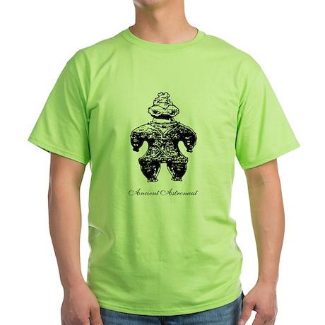 Ancient Astronaut Dogu Green T-Shirt
