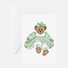 BEAR - GREEN DRESS Greeting Cards (Pk of 10)