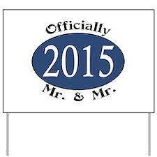 Mr. & Mr. 2015 Blue/Blk Yard Sign