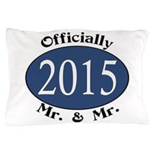 Mr. & Mr. 2015 Blue/Blk Pillow Case