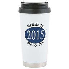 Mr. & Mr. 2015 Blue/Blk Travel Mug