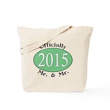 Mr. & Mr. 2015 Green Tote Bag