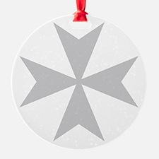 Silver Maltese Cross Ornament