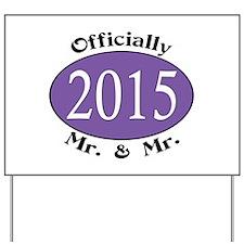 Mr. & Mr. 2015 Purple Yard Sign