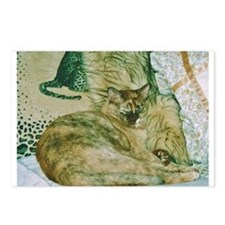 Burmese cat on cushions Postcards (Package of 8)