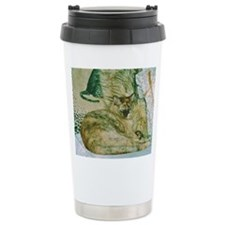 Burmese cat on cushions Travel Coffee Mug