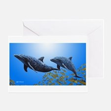 Two Dolphins Greeting Card