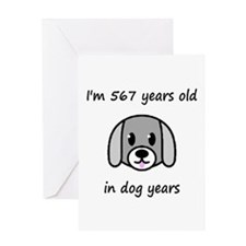 81 dog years 2 - 2 Greeting Cards
