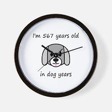81 dog years 2 - 2 Wall Clock