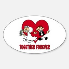 Together Forever Oval Decal