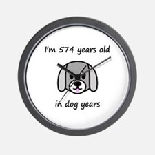 82 dog years 2 - 2 Wall Clock