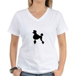 French Poodle Women's V-Neck T-Shirt