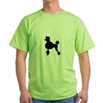 French Poodle Green T-Shirt