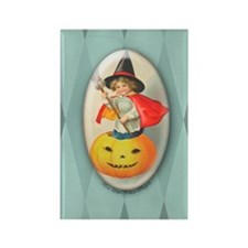 TLK001 Halloween Witch Rectangle Magnet