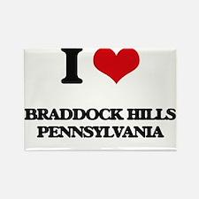 I love Braddock Hills Pennsylvania Magnets
