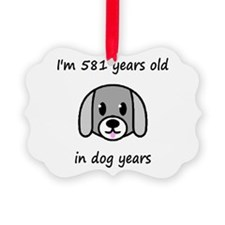 83 dog years 2 - 2 Ornament