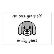 83 dog years 2 - 2 Postcards (Package of 8)