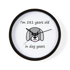83 dog years 2 - 2 Wall Clock