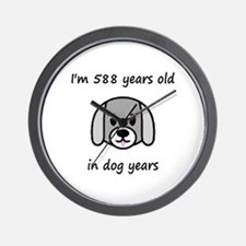 84 dog years 2 - 2 Wall Clock