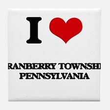 I love Cranberry Township Pennsylvani Tile Coaster