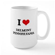 I love Delmont Pennsylvania Mugs