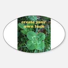 Create Your Own Luck Four Leaf Clover Decal