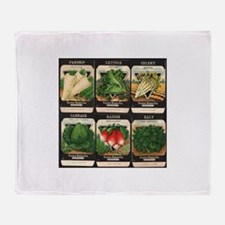 Vegetable Packets Six Throw Blanket