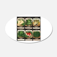 Vegetable Packets Six Wall Decal