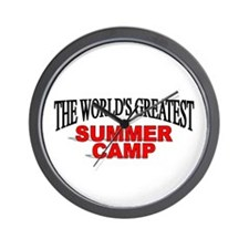 """""""The World's Greatest Summer Camp"""" Wall Clock"""