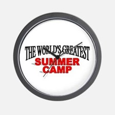 """The World's Greatest Summer Camp"" Wall Clock"