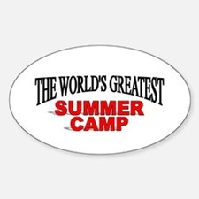 """The World's Greatest Summer Camp"" Oval Decal"