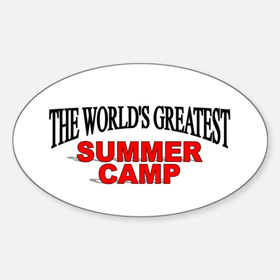 """""""The World's Greatest Summer Camp"""" Oval Decal"""