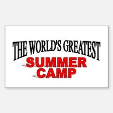 """""""The World's Greatest Summer Camp"""" Decal"""