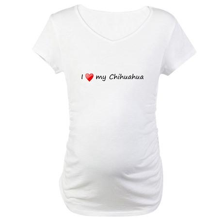 Chihuahua love Maternity T-Shirt
