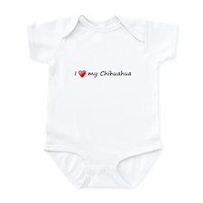 Chihuahua love Infant Bodysuit