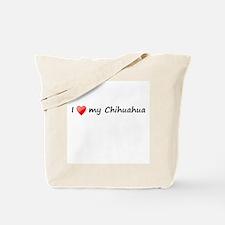 Chihuahua love Tote Bag