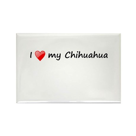Chihuahua love Rectangle Magnet