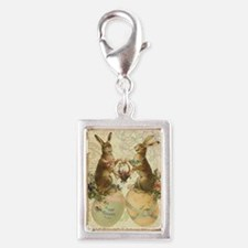 Vintage French Easter bunnies Charms