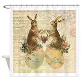 Easter vintage Shower Curtains