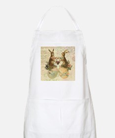 Vintage French Easter bunnies Apron