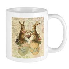 Vintage French Easter bunnies Mugs