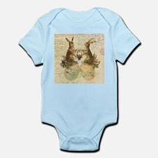 Vintage French Easter bunnies Body Suit