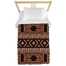 Brown And Tan Aztec Pattern Twin Duvet