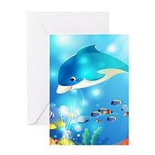 Fishes In The Sea Greeting Cards