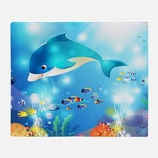 Fishes In The Sea Throw Blanket