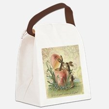 Vintage French Easter bunnies in egg Canvas Lunch