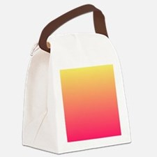 pink orange fuschia ombre Canvas Lunch Bag