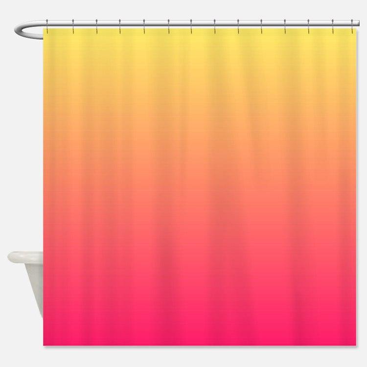 Hot Pink Orange Shower Curtains
