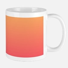 pink orange fuschia ombre Mugs